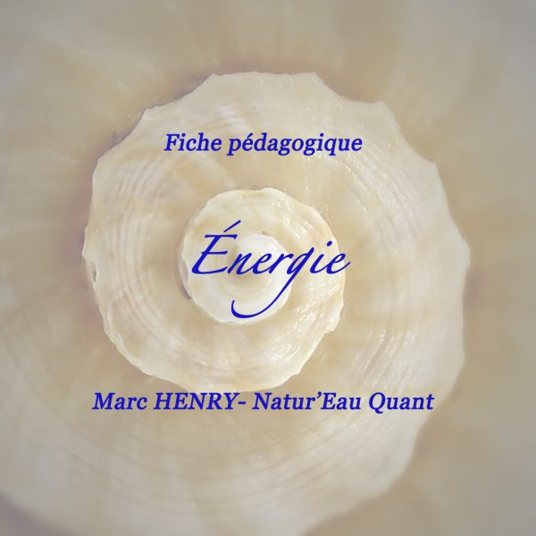 """Fiche pédagogique : """"l'Energie"""""""