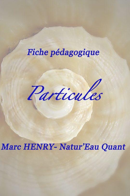 """Fiche pédagogique """"Particules"""""""