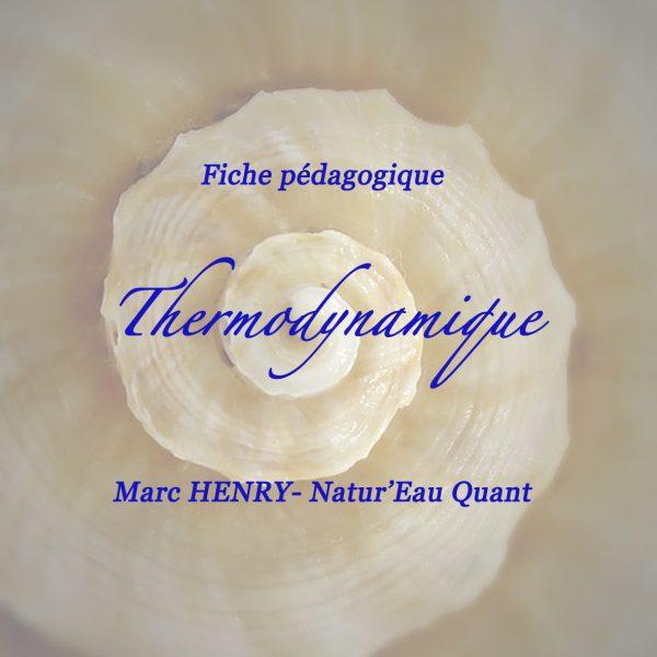 """Fiche pédagogique """"Thermodynamique"""""""